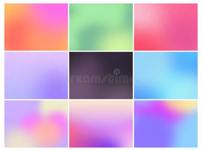 Reeks achtergronden van de kleurengradiënt royalty-vrije illustratie