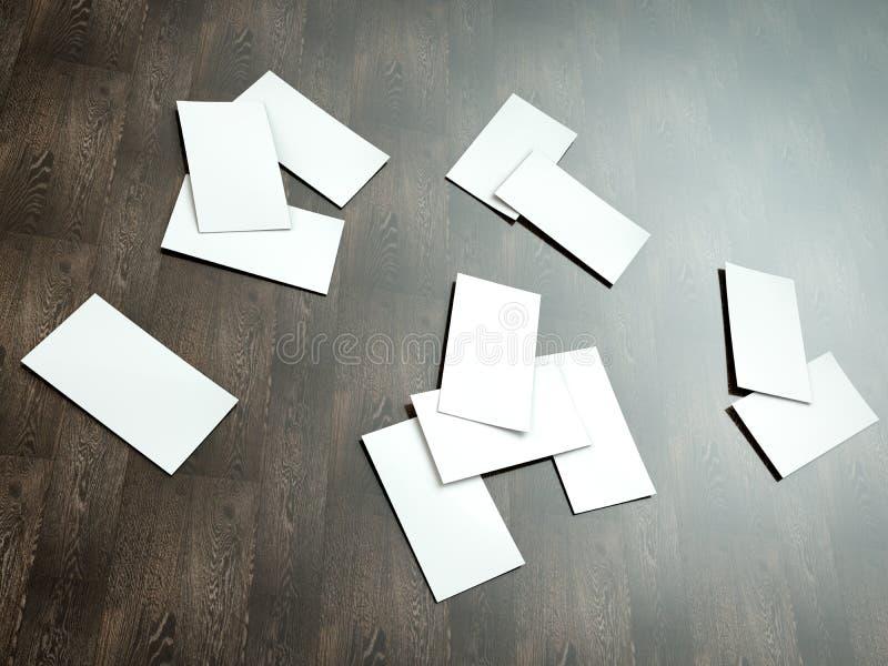 Reeks adreskaartjes Model voor het brandmerken van identiteit Voor grafische ontwerperspresentaties en portefeuilles stock foto's