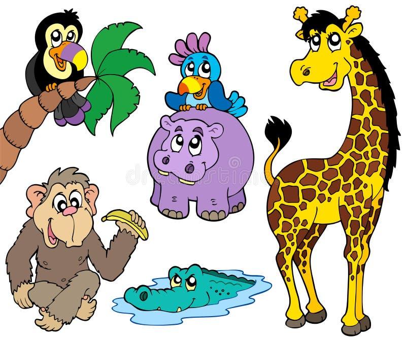 Reeks Afrikaanse dieren 2 vector illustratie