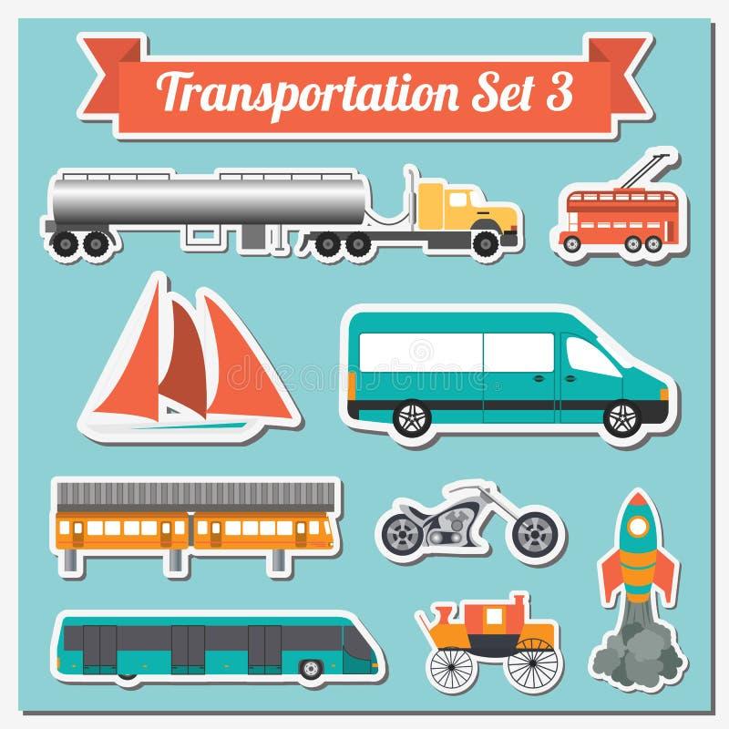 Reeks allerhande van vervoerpictogram voor het creëren van uw eigen infogr royalty-vrije illustratie