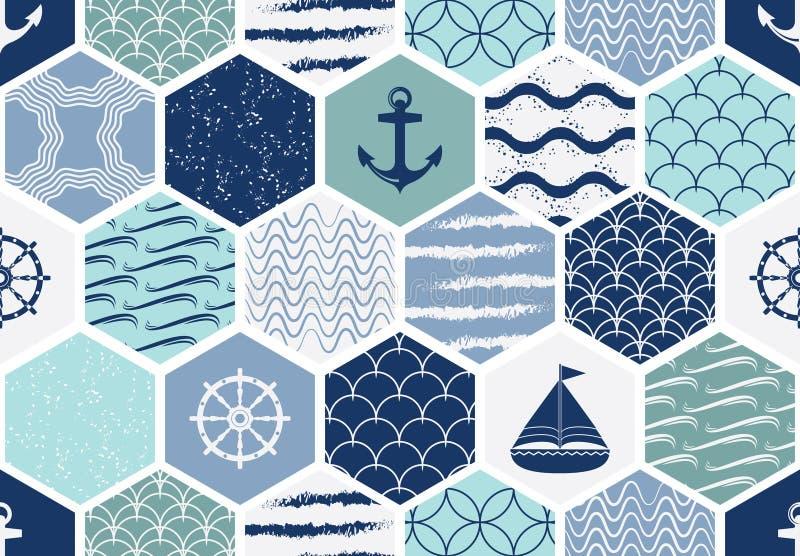 Reeks art deco naadloze patronen Modieuze moderne texturen Vat achtergronden samen vector illustratie