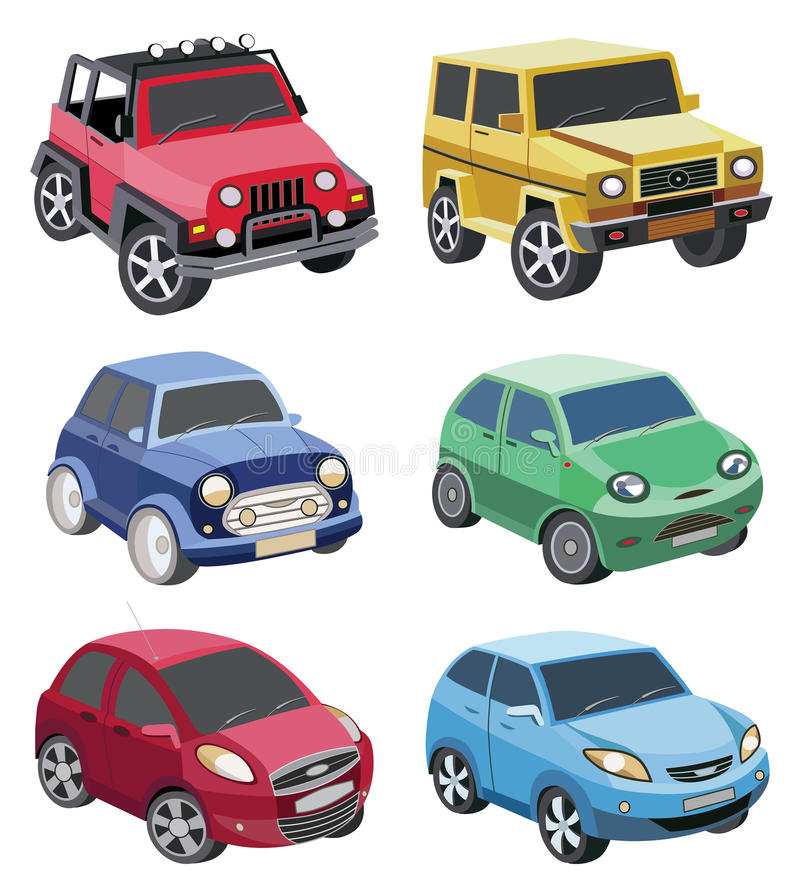 Download Reeks auto's vector illustratie. Illustratie bestaande uit pictogrammen - 39103254