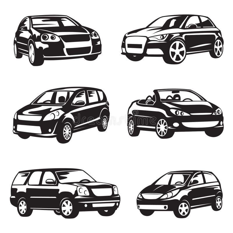 Download Reeks auto's vector illustratie. Illustratie bestaande uit inzameling - 54086086
