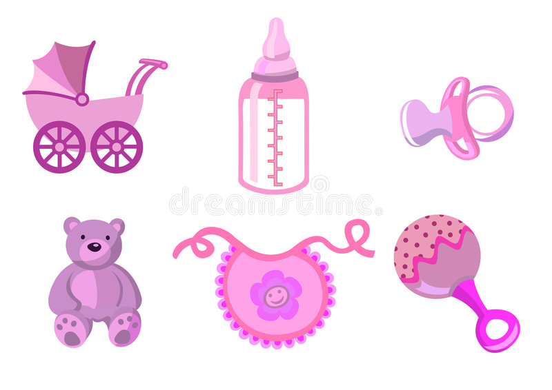 Reeks babypictogrammen vector illustratie