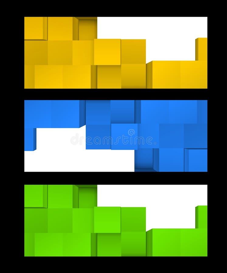Download Reeks banners vector illustratie. Illustratie bestaande uit decoratie - 29500727