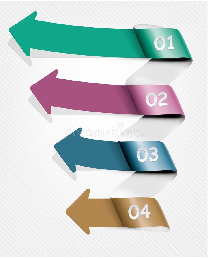 Reeks banners van de infografiek met aantallen royalty-vrije illustratie
