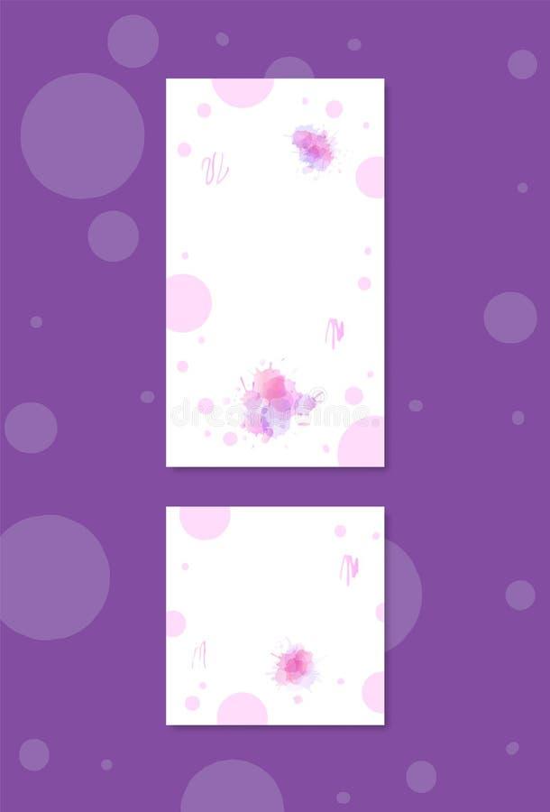 Reeks banners voor sociale media netwerken Vector illustratie vector illustratie