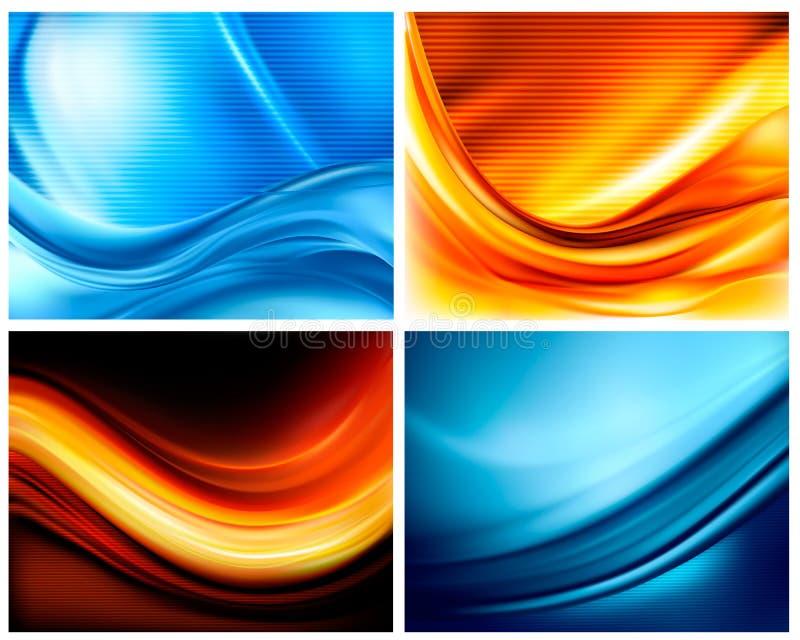 Reeks bedrijfs elegante kleurrijke achtergronden royalty-vrije illustratie