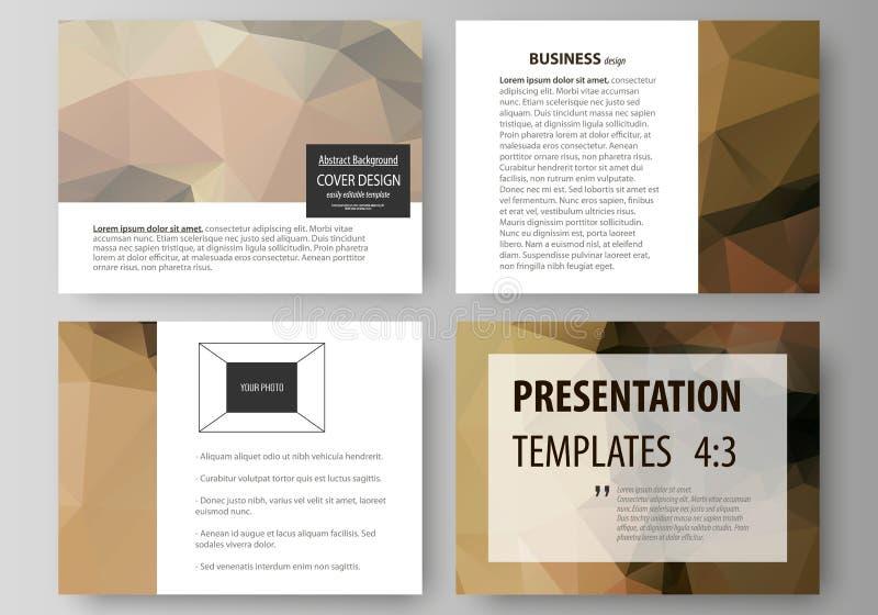 Reeks bedrijfsmalplaatjes voor presentatiedia's Gemakkelijke editable abstracte vectorlay-outs in vlak ontwerp Mooi vector illustratie