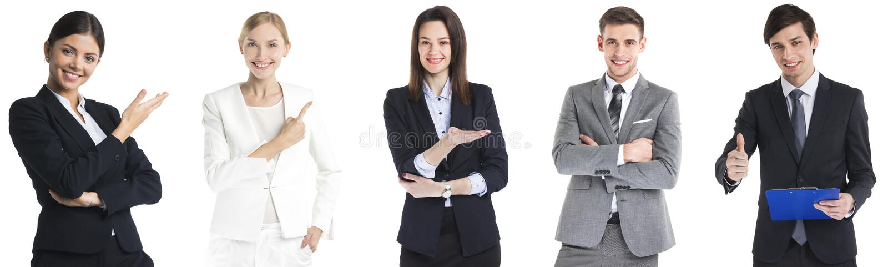 Reeks bedrijfsmensen stock foto