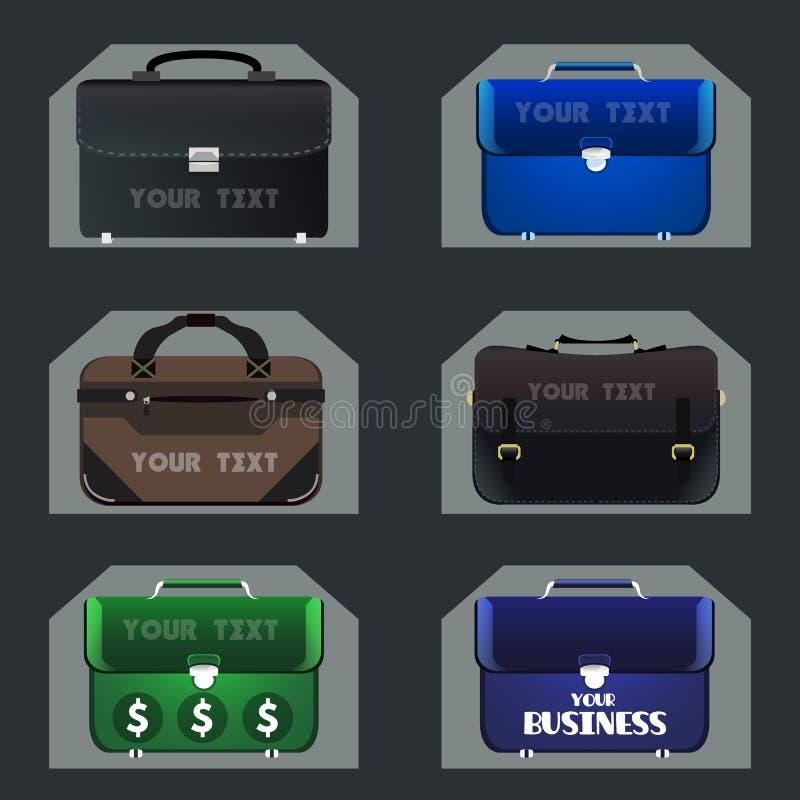 Reeks bedrijfsportefeuilles royalty-vrije illustratie