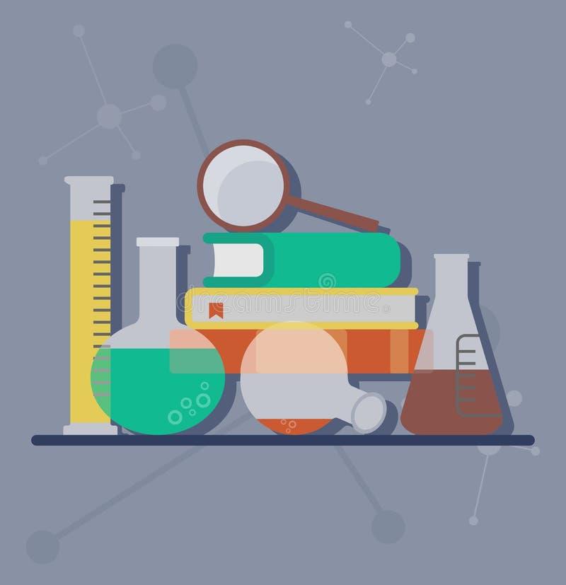 Reeks chemische voorwerpen stock illustratie