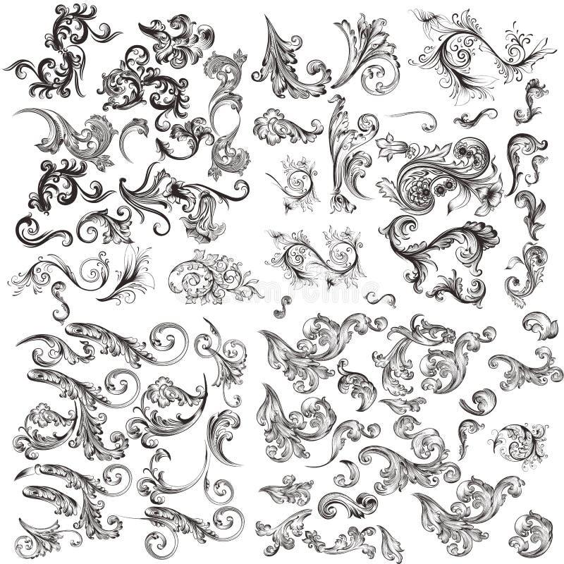 Reeks collectieve identiteitsmalplaatjes voor ontwerp royalty-vrije illustratie