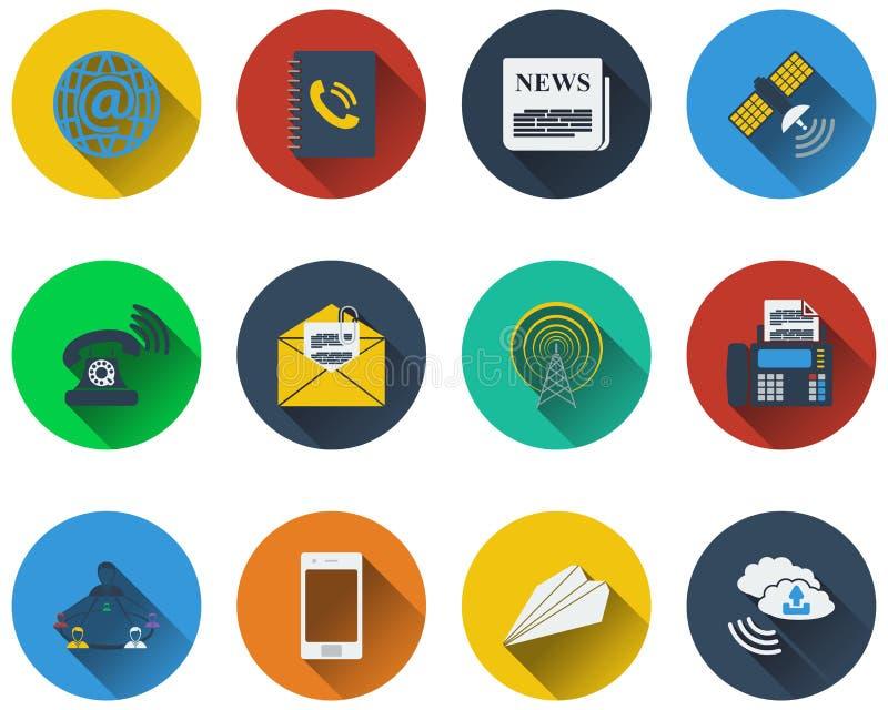 Reeks communicatie pictogrammen royalty-vrije illustratie