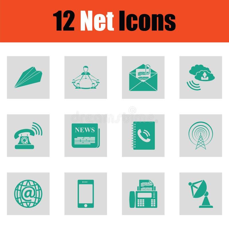 Reeks communicatie pictogrammen stock illustratie