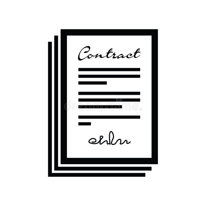 Reeks contracten vector illustratie