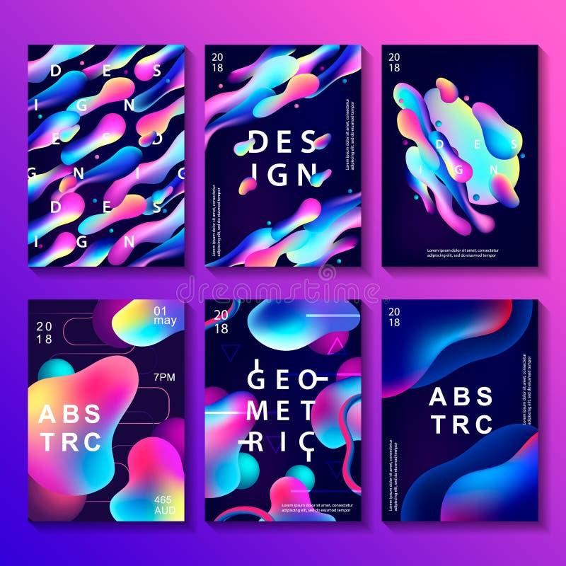 Reeks creatieve ontwerpaffiches stock illustratie