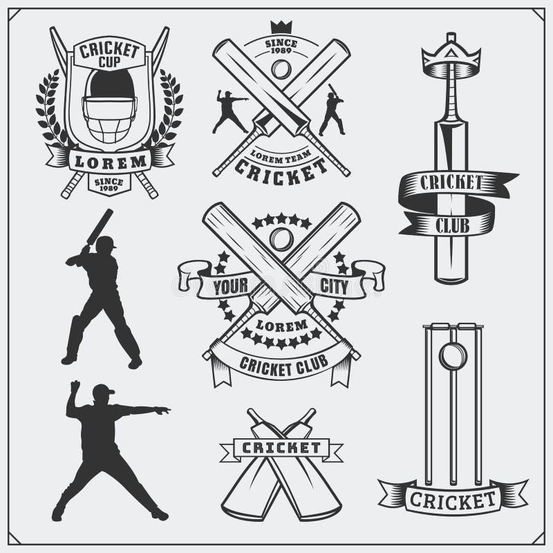 Reeks de symbolen van veenmolsporten, etiketten, emblemen en ontwerpelementen Veenmolemblemen en materiaalelementen royalty-vrije illustratie