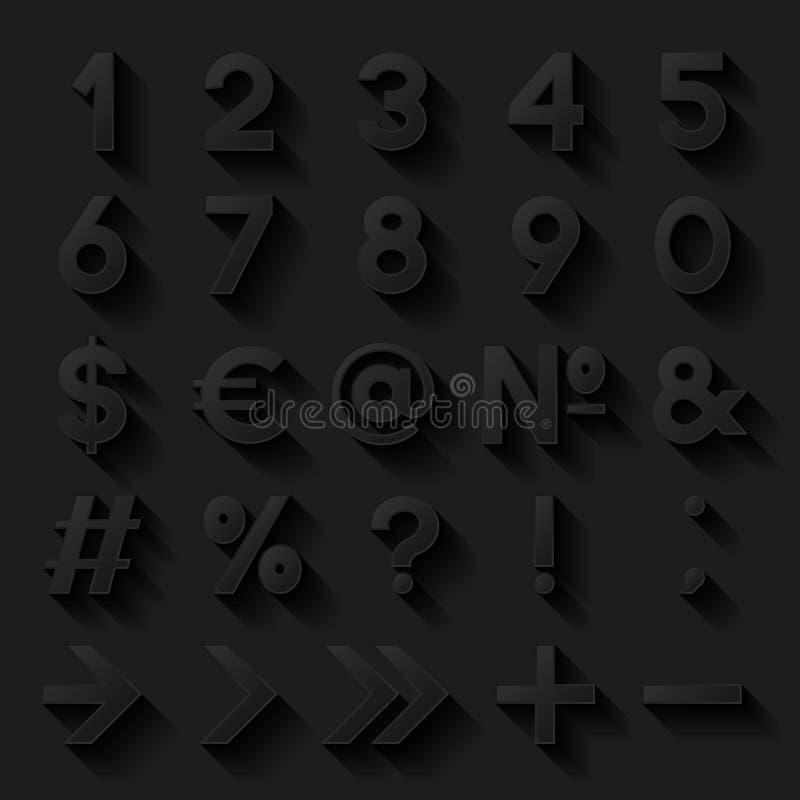 Reeks Decoratieve Aantallen En Symbolen Vector Illustratie
