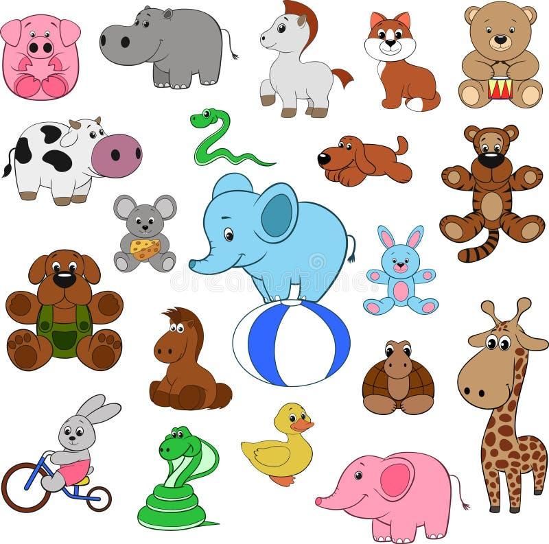 Reeks dieren stock illustratie