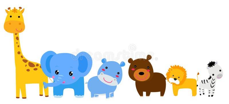 Reeks dieren royalty-vrije illustratie