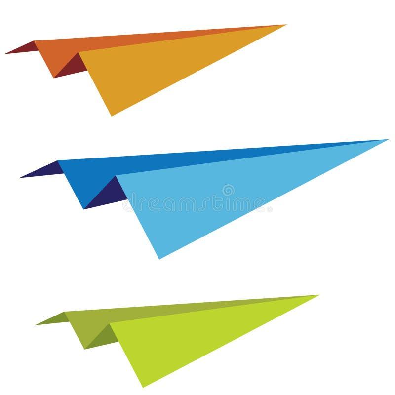 Reeks document vliegtuigen vector illustratie