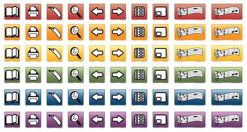 Reeks e-boek pictogrammen vector illustratie