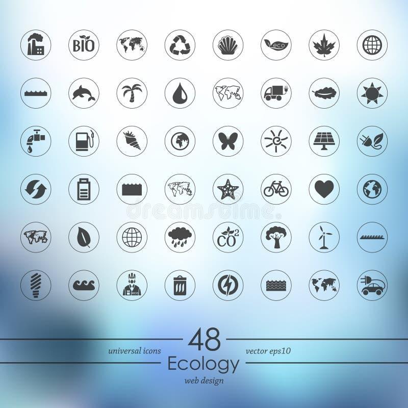 Reeks ecologiepictogrammen royalty-vrije illustratie