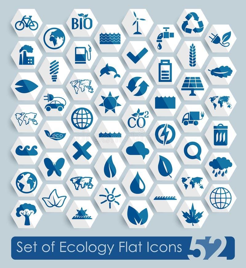 Reeks ecologiepictogrammen stock illustratie