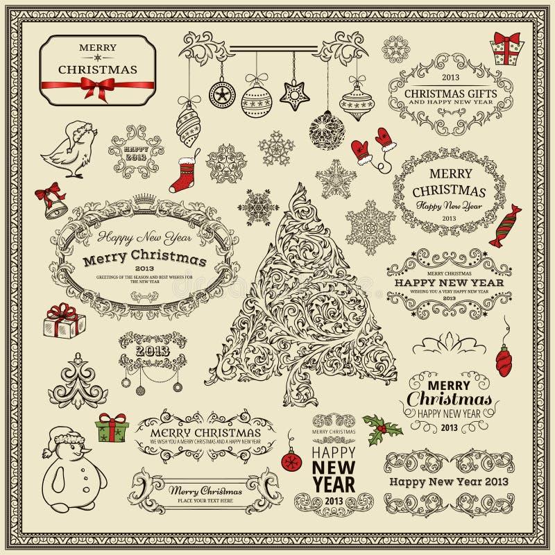 Reeks elementen van Kerstmis