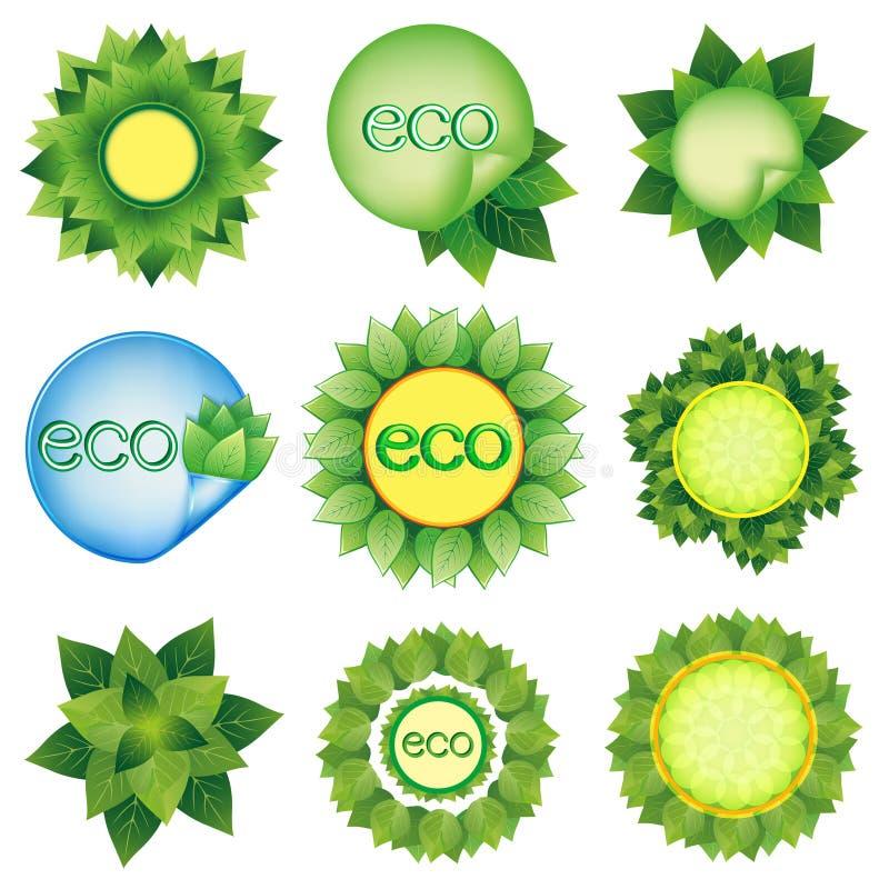 Reeks elementen voor Eco-ontwerpvector vector illustratie