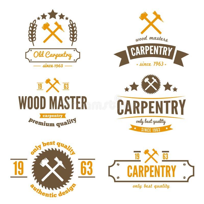 Reeks embleem, etiket, kenteken en logotype elementen stock illustratie