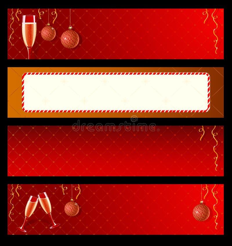 Reeks etiketten voor Nieuwjaar stock illustratie