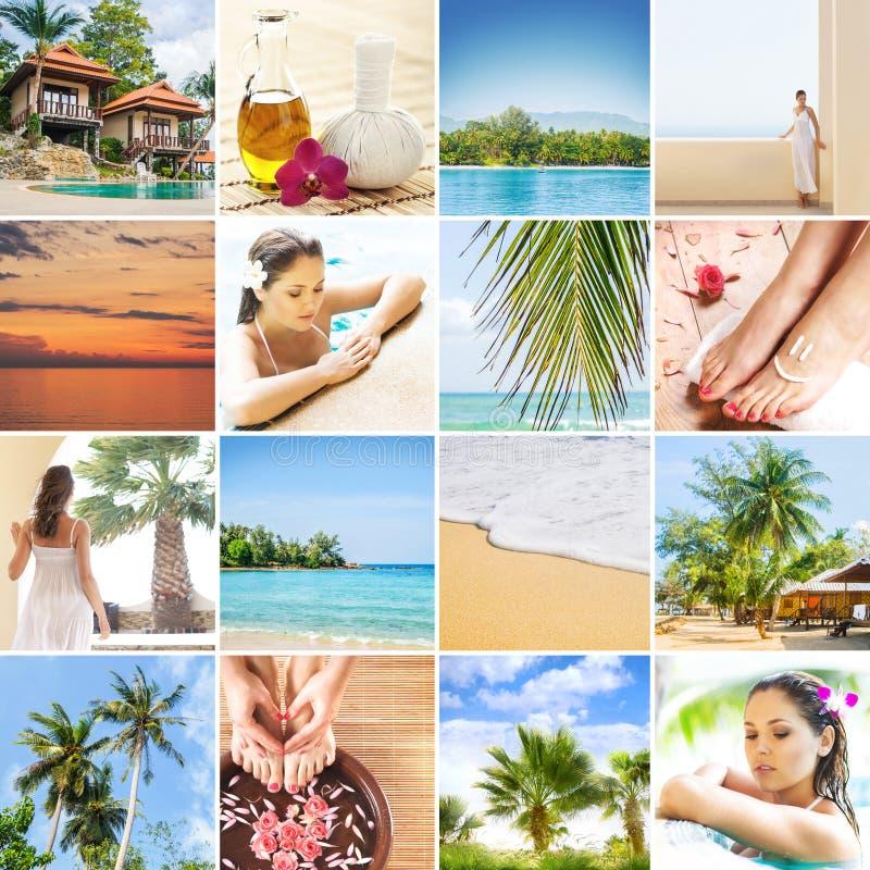 Reeks foto's over Thailand Reizend concept royalty-vrije stock afbeeldingen