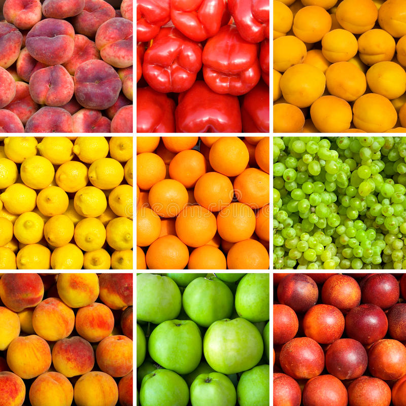 Reeks fruitachtergronden royalty-vrije stock afbeelding