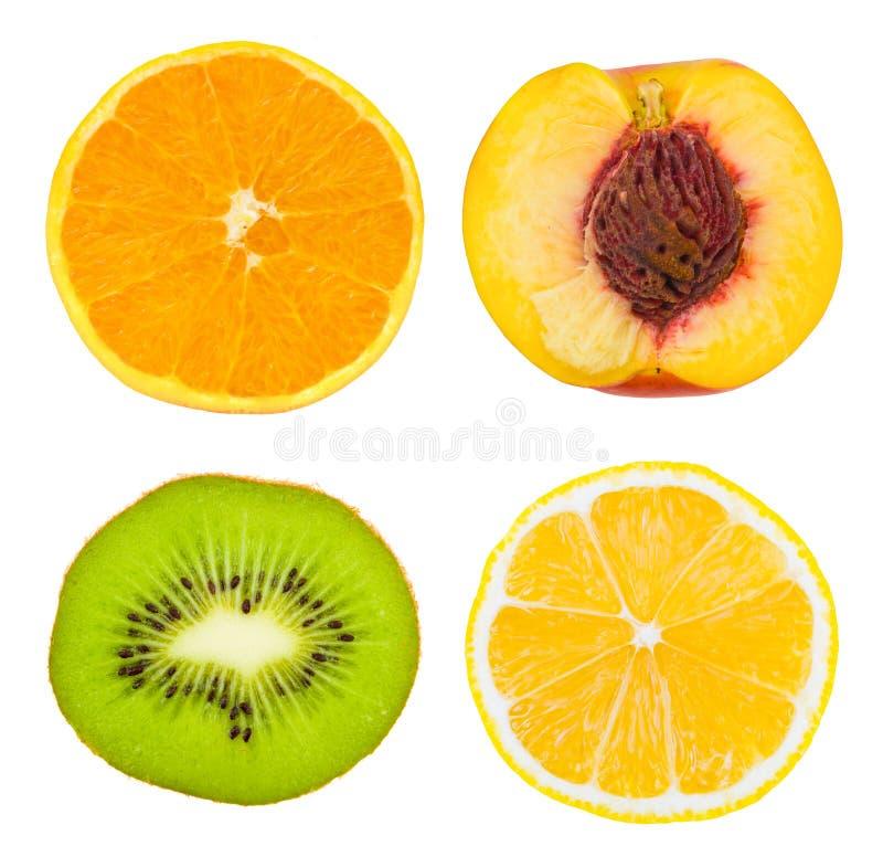 Reeks fruitplakken royalty-vrije stock fotografie