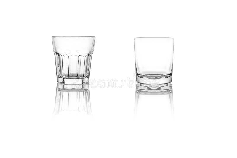 Reeks geïsoleerde glazen royalty-vrije stock afbeelding