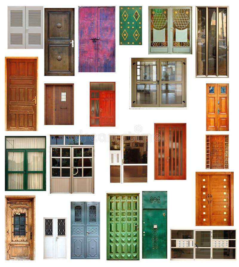 Reeks geïsoleerdee deuren royalty-vrije stock afbeeldingen