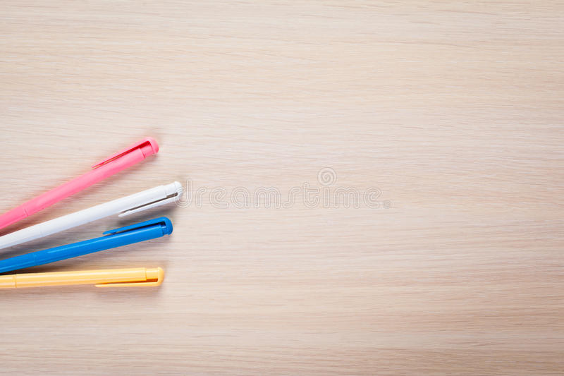 Reeks gekleurde pennen royalty-vrije stock afbeelding