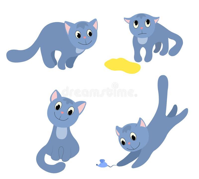 Reeks gelukkige katten 2. royalty-vrije illustratie