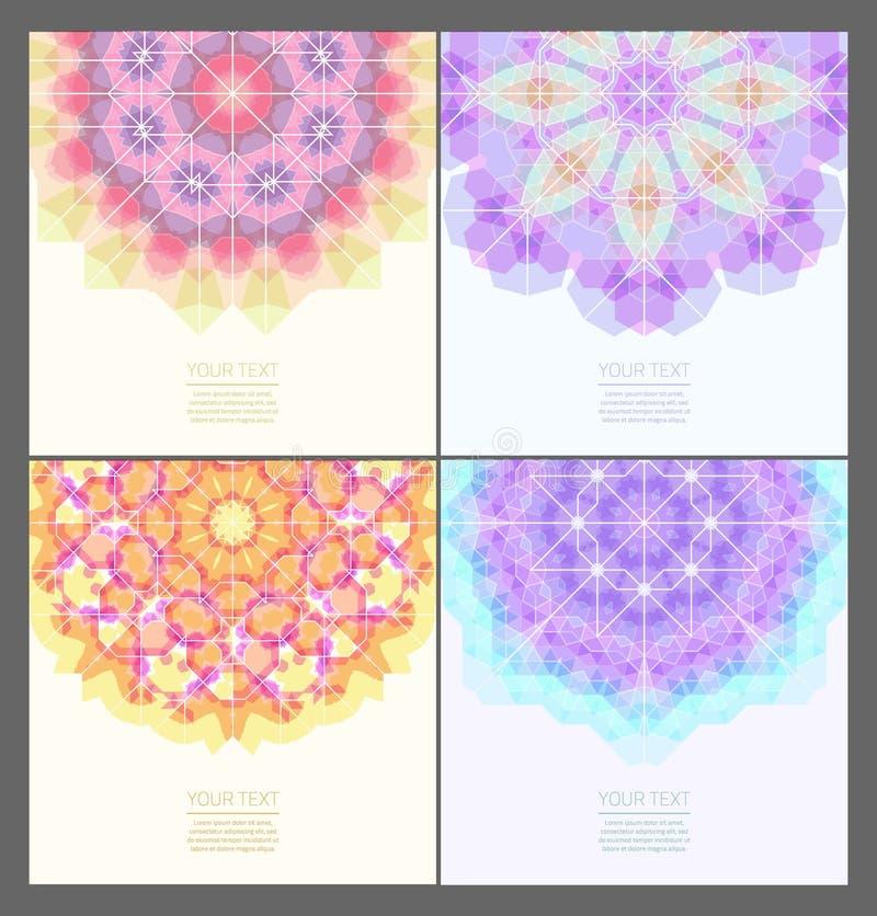 Reeks geometrische creatieve banners vector illustratie