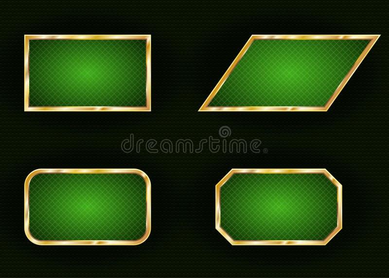 Reeks geometrische kaders voor tekst op donkere achtergrond vector illustratie