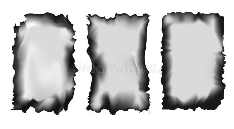 Reeks geschroeide documenten op een transparante achtergrond, geïsoleerde vectorillustratie royalty-vrije illustratie