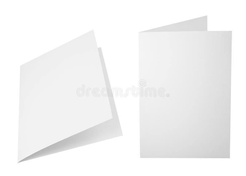 Reeks gevouwen A4 document bladen stock foto