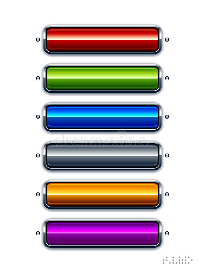 Reeks glanzende knopen vector illustratie