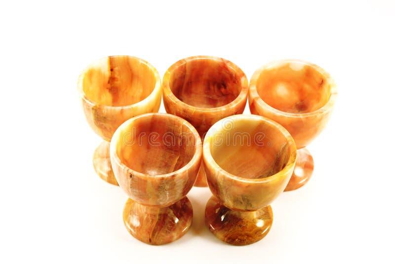 Reeks glazen gemaakt ââof tot steen royalty-vrije stock afbeeldingen
