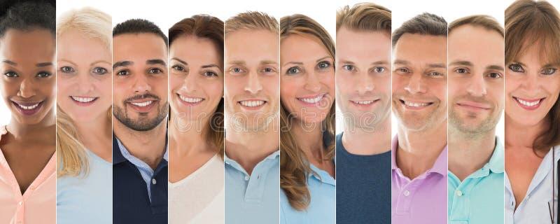 Reeks Glimlachende Mensen stock foto