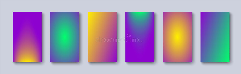Reeks gradiënt zachte kleuren als achtergrond Gradiënt met kleur twee Moderne Achtergrond stock illustratie