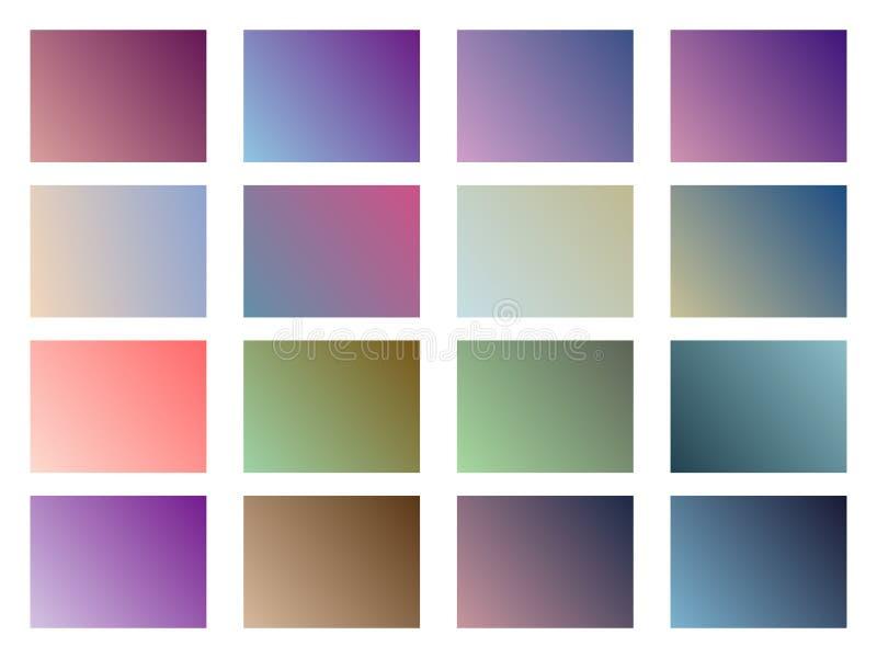 Reeks gradiëntachtergronden Zachte Kleur Vector stock illustratie