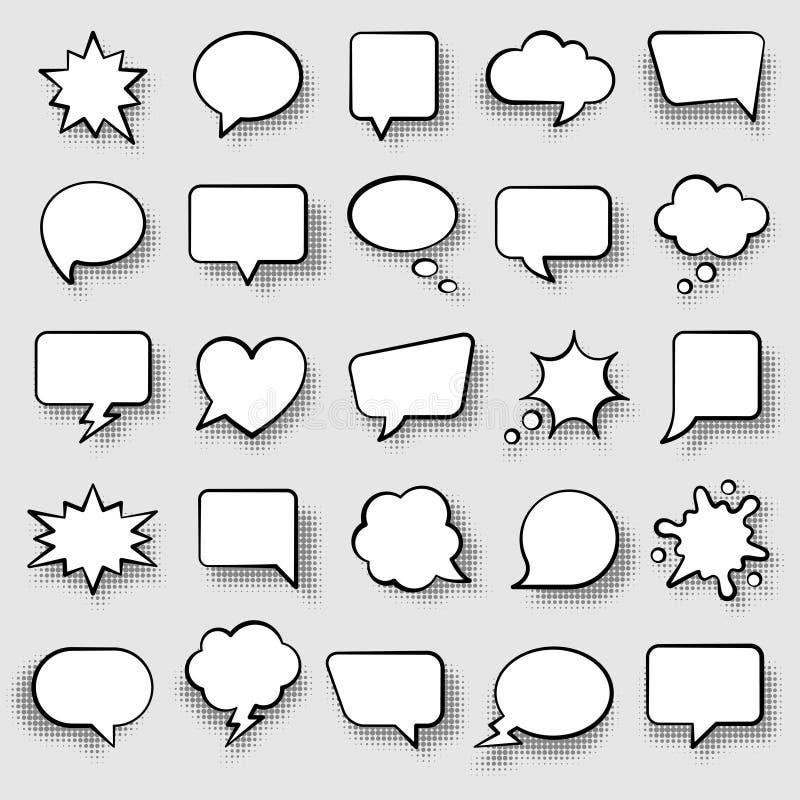 Reeks grappige toespraakbellen vector illustratie